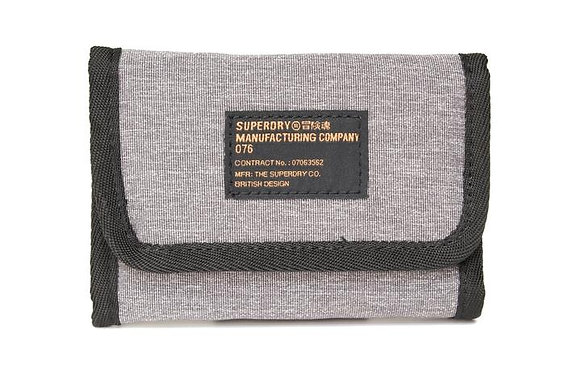 Superdry Trifold Wallet Grey
