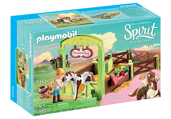 Playmobil 9480 Abigail and Boomerang with Horse Stall