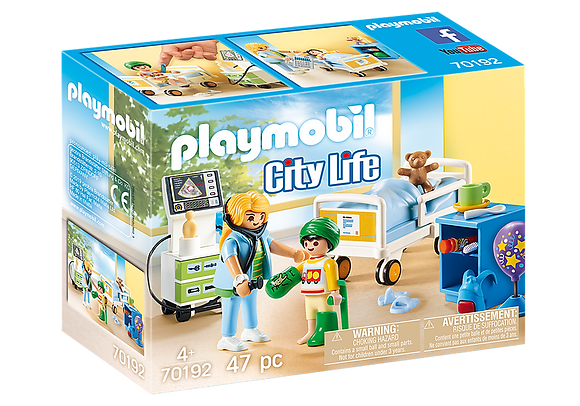 Playmobil 70192 City Life Children's Hospital Room