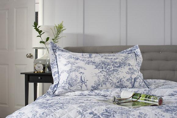 The Lyndon Company 'Toile De Jouy' Blue Pillow Case Pair