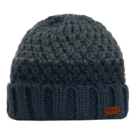 Weird Fish Halton Knit Beanie Navy