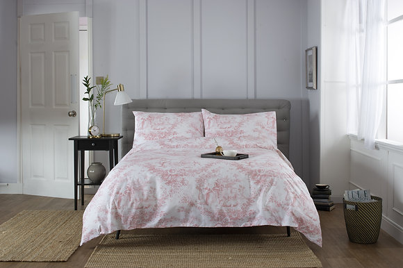 The Lyndon Company 'Toile D Jouy' Pink Duvet Cover