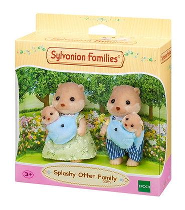 Sylvanian Family Splashy Otter Family