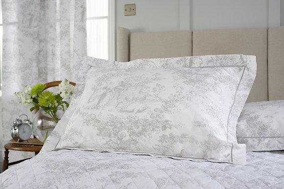 The Lyndon Company 'Toile De Jouy' Grey Pillow Case Pair