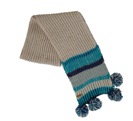 Weird Fish Deedee Knit Scarf Navy