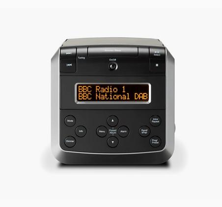 Roberts SOUND48 CD/DAB Cube Clock Radio (Black)