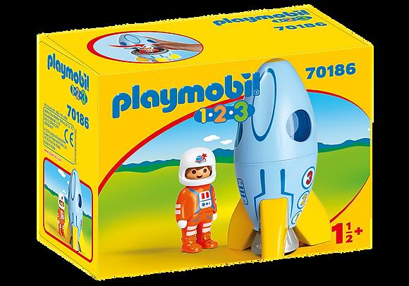 Playmobil 70186 1.2.3 Astronaut with Rocket