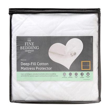 Mattress Protectors Deep Fill Cotton - Double