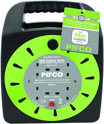 Pifco 25m 4way Extension Reel