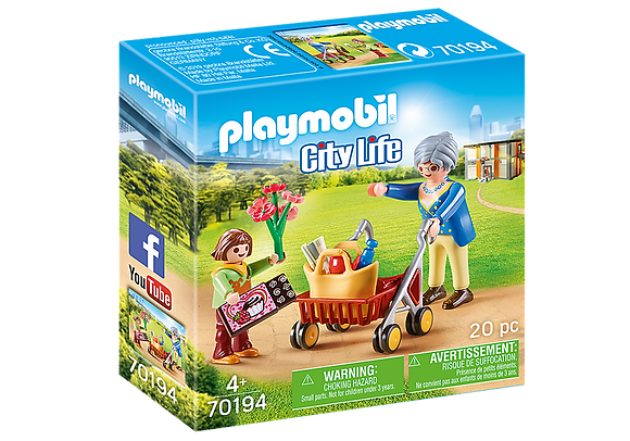 Playmobil 70194 City Life Grandmother with Child
