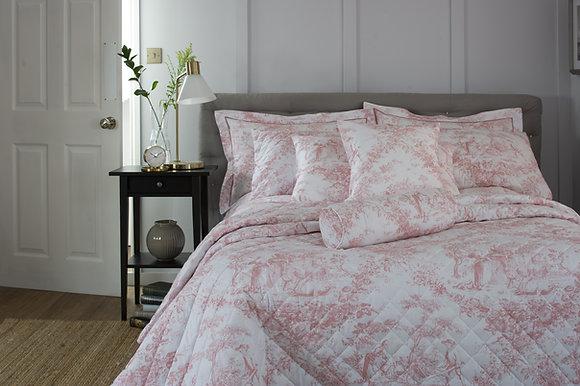 The Lyndon Company 'Toile De Jouy' Pink Beadspread