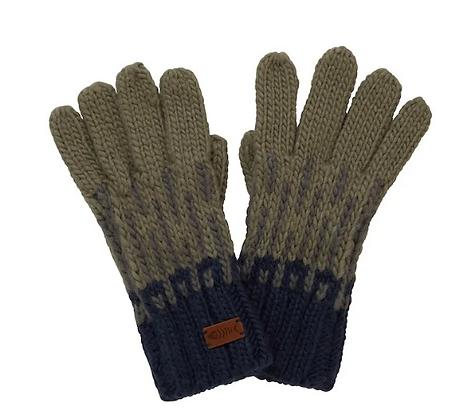 Weird Fish Kingston Knit Glove Khaki