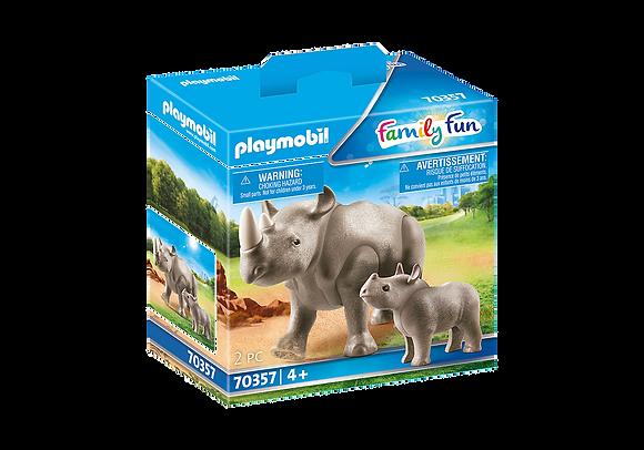 Playmobil 70357 Rhino & Calf