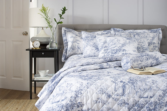 The Lyndon Company 'Toile D Jouy' Blue Duvet Cover