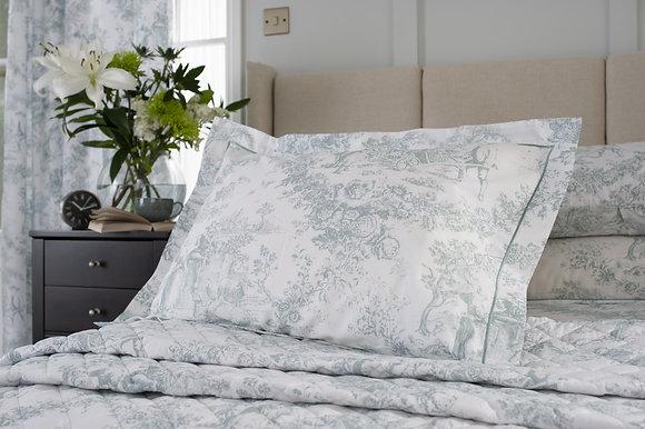 The Lyndon Company 'Toile De Jouy' Green Pillow Case Pair