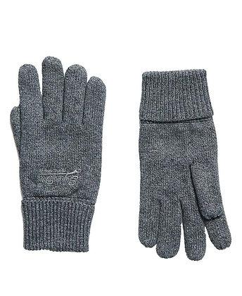Superdry Orange Label Cotton Gloves - Cloud Grey