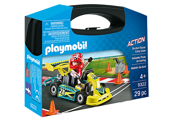 Playmobil 9322 Action Small Go-Kart Racer Carry Case