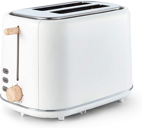 "Tower ""Scandi"" 2 Slice White Toaster"