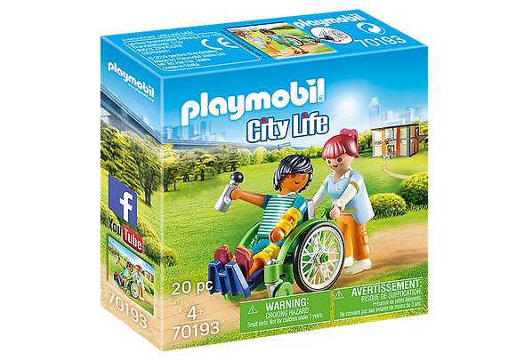Playmobil 70193 City Life Patient in Wheelchair