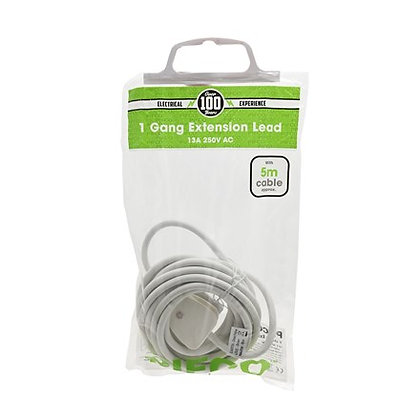 Pifco 1 Gang 5m Extension Lead