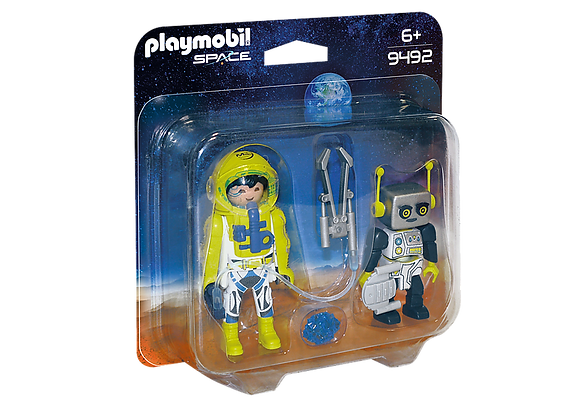 Playmobil 9492 Space Astronaut and Robot Duo Pack