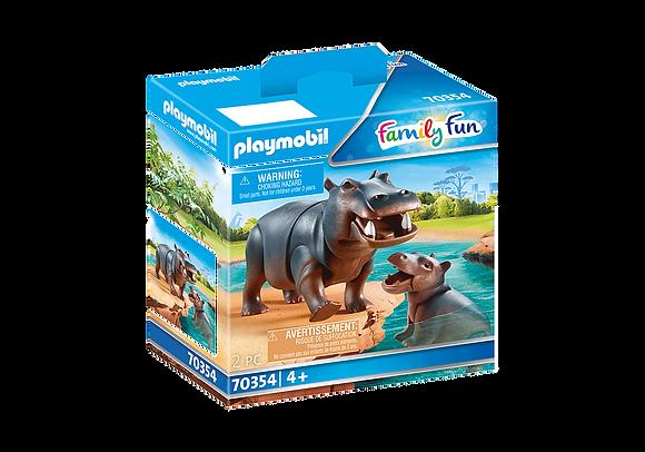 Playmobil 70354 Hippo & Calf