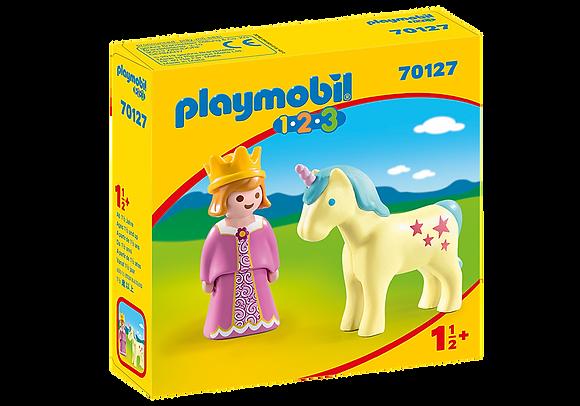 Playmobil 70127 1.2.3 Princess with Unicorn