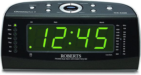 Roberts Chronoplus2 FM/MW Clock Radio