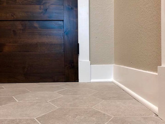 Hexagon Bathroom Tile Flooring