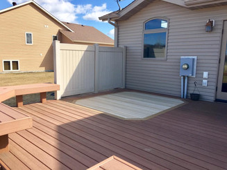 Hot Tub Removal + New Decking
