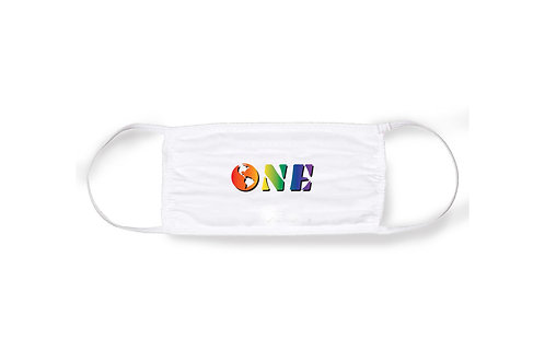 ONE PRIDE FACE MASK [WHITE]
