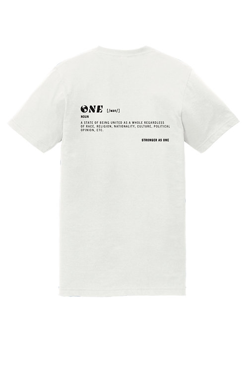 """ONE"" DEFINITION TEE"