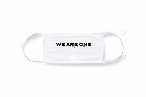 "DRIPPED ""WE ARE ONE"" FACE MASK [WHITE]"