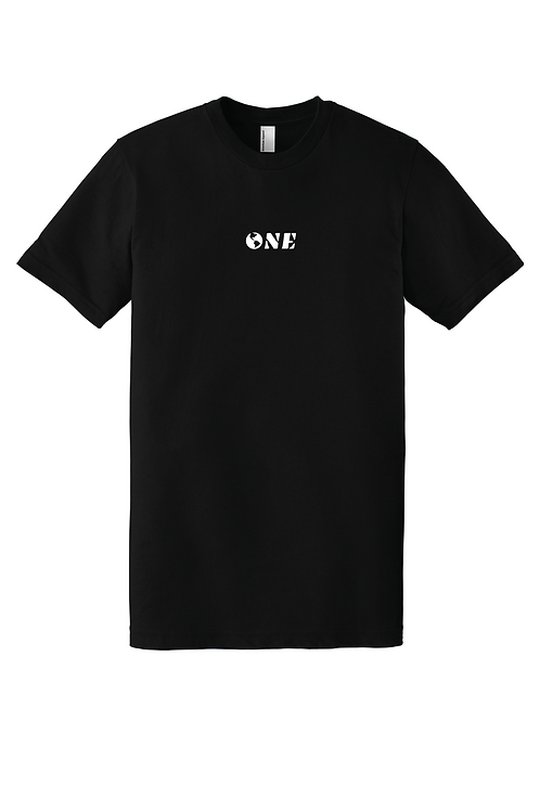 """""""ONE"""" EMBROIDERED BASIC TEE"""