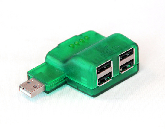 Green USB Hub