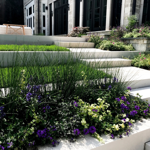 Valders Limestone Steps with Annuals
