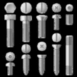 realistic-3d-metal-bolts-nuts-rivets-and