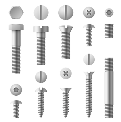 realistic-3d-metal-bolts-nuts-rivets-and