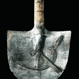 Spade with hammer and sickle No. 2