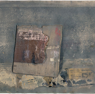 Composition with newspaper