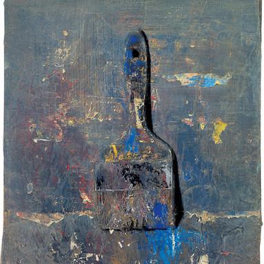 Blue paintbrush