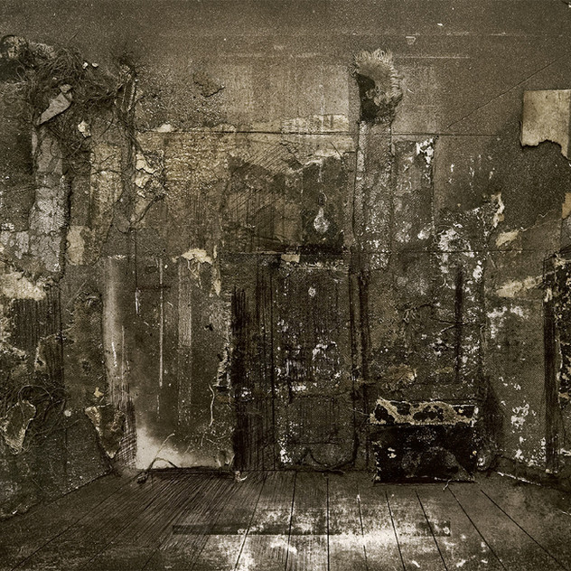 Set design for Yuri Kuper's play 12 Paintings from the Artist's life