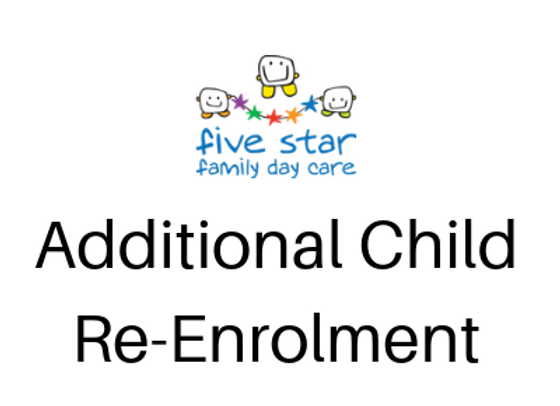 Additional Child Re-Enrolment