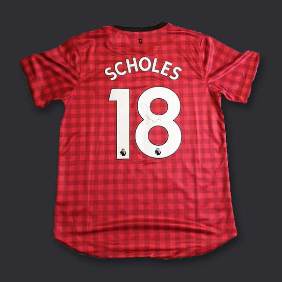 Paul Scholes Manchester United Signed 13/14 Shirt