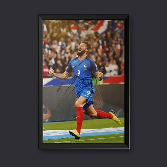 Olivier Giroud, 12 x 8 France Signed Picture