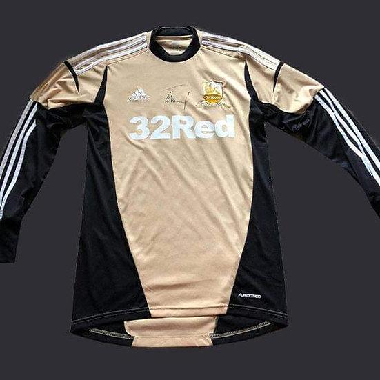 Gerhard Tremmel Signed Swansea 12/13 Shirt