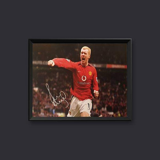 Paul Scholes Manchester United Signed 16 x 12 picture