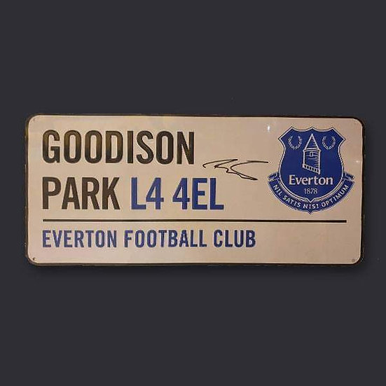 Dominic Calvert-Lewin, Everton Signed Road Sign