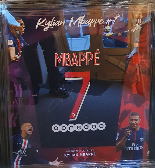 Kylian Mbappé PSG Framed Signed Shirt