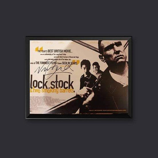 Vinnie Jones Signed Lock Stock Picture 16 x 12
